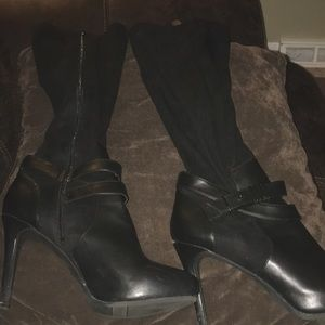 Shoes - Barr III Suede and leather heeled boots
